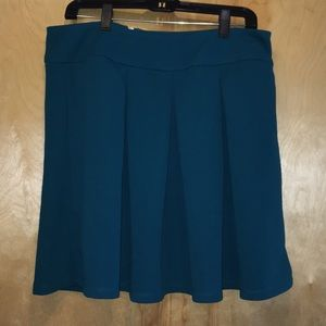 The Limited Teal pleated skater skirt